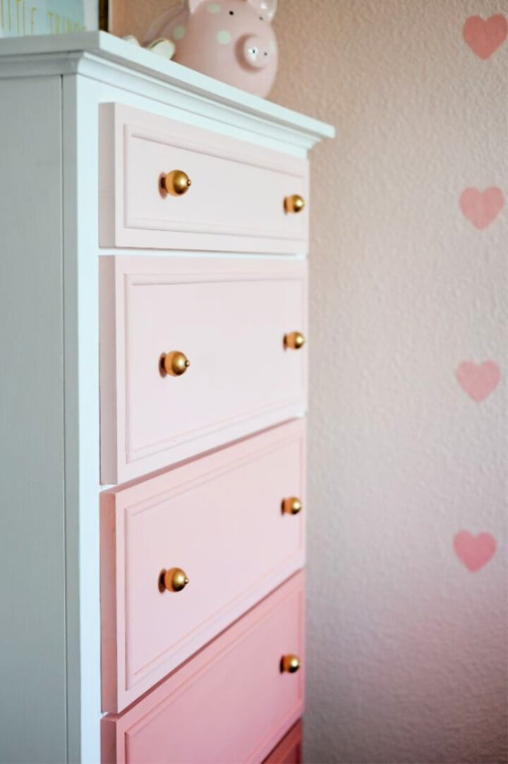 Transform Your Old Dresser Into An Ombre Masterpiece