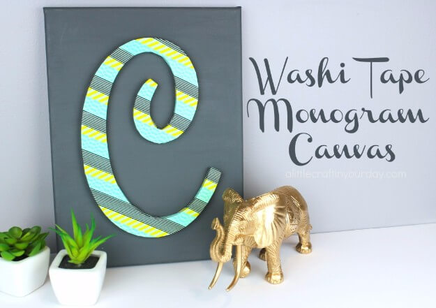 Washi Tape Monogram Canvas