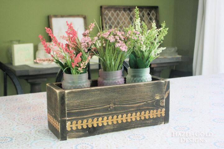centerpiece flower box finished