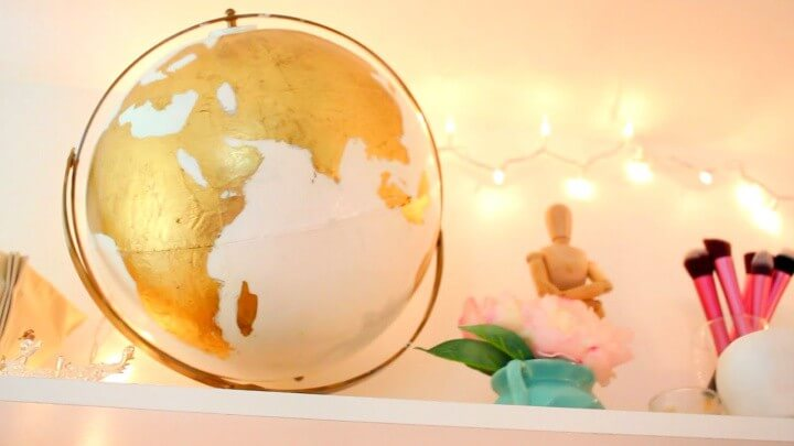 Diy Gold Globe Make Over