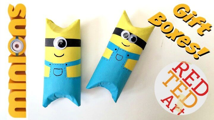 Easy Minion TP Roll Gift Box DIY