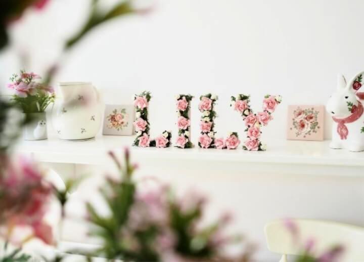 Floral Name DIY