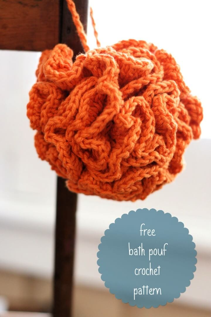 Free Crochet Pattern For Bath Pouf