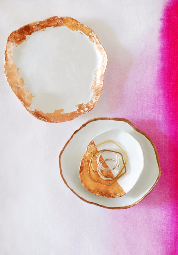 Handmade Jewelry Dishes With Copper Touches