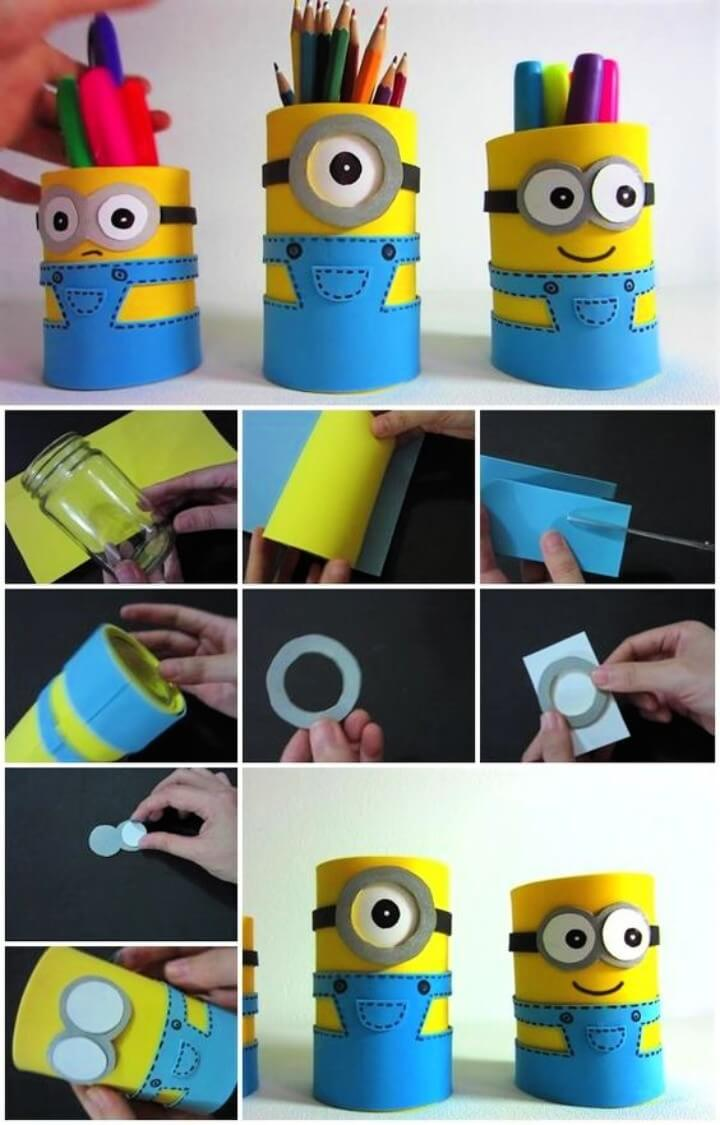 How to Make Minion Pencil Holders