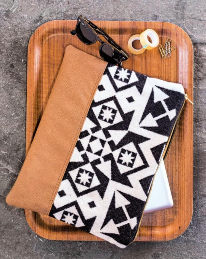 Leather Patterned Laptop Sleeve