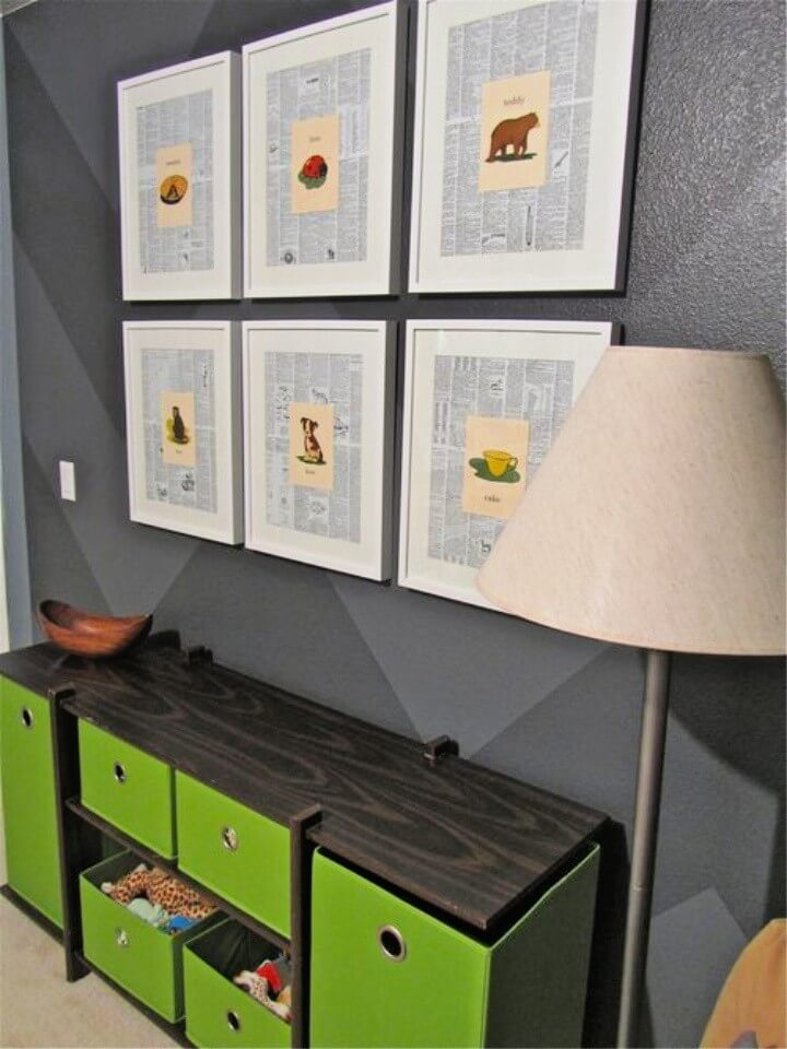 Make Wall Art From Dictionary Pages and Greeting Cards