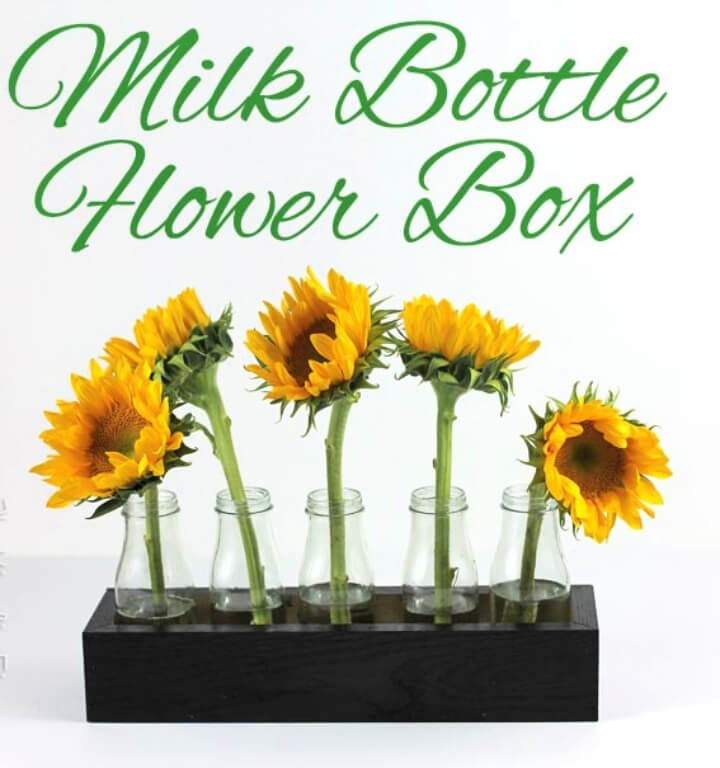 Milk Bottle Flower Box Centerpiece
