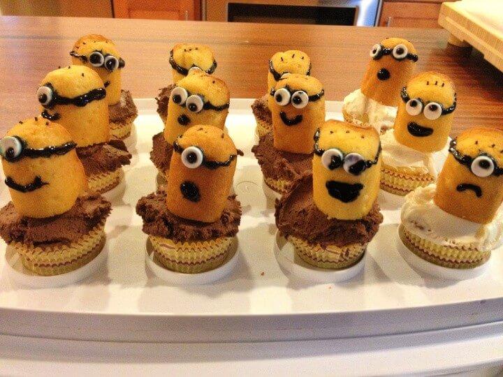 Minion Birthday Party Ideas: Minion Cupcakes