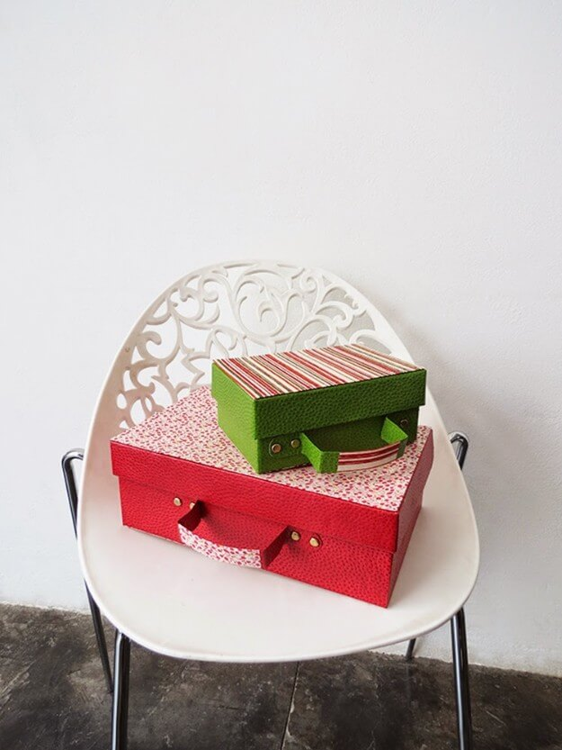 Recycled Shoe Box Suitcase