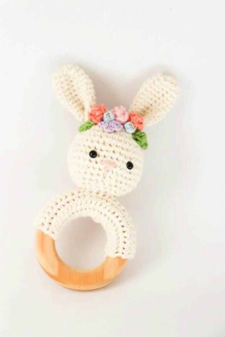 Spring Bunny Rattle Crochet