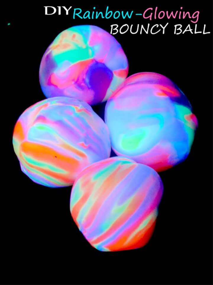 DIY Rainbow Glowing Bouncy Ball – Easy & Cool Homemade Kid Craft Project Idea