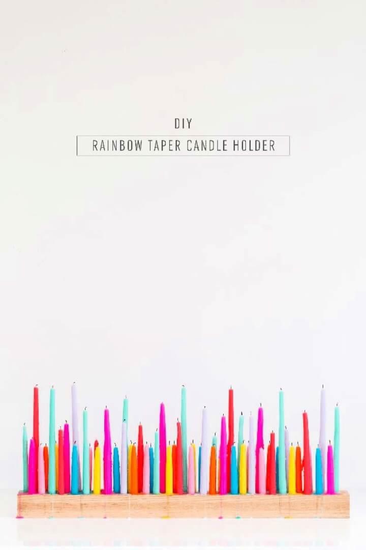 DIY Rainbow Pom Pom Pillow, home decor