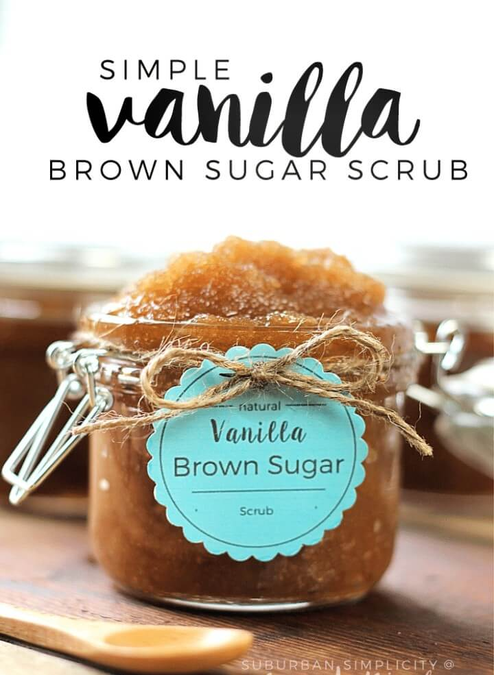EASY DIY Vanilla Brown Sugar Scrub Recipe