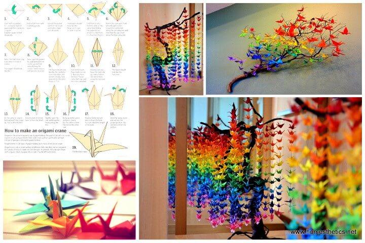 How to Create a Colorful Rainbow DIY Crane Curtain
