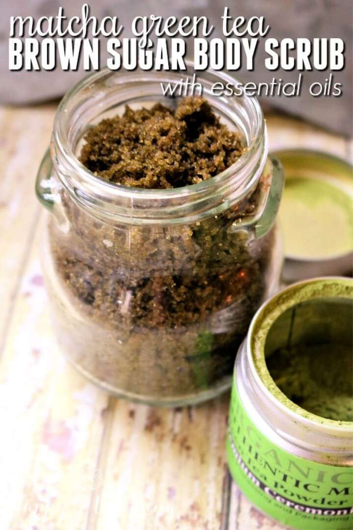 Matcha Green Tea Brown Sugar Body Scrub with Essential Oils